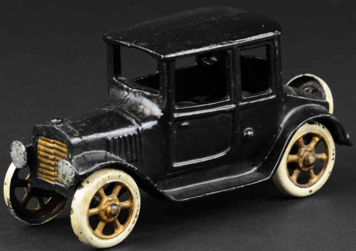 grey iron casting company cast iron toy car coupe black gold