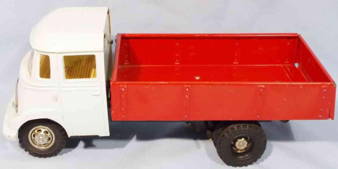 guenthermann 319 blech spielzeug mercedes lastwagen kunststoff rot weiss schwarz