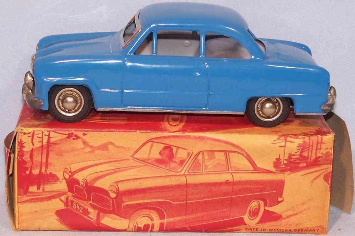 gunthermann 842/1 tin toy car ford taunus blue