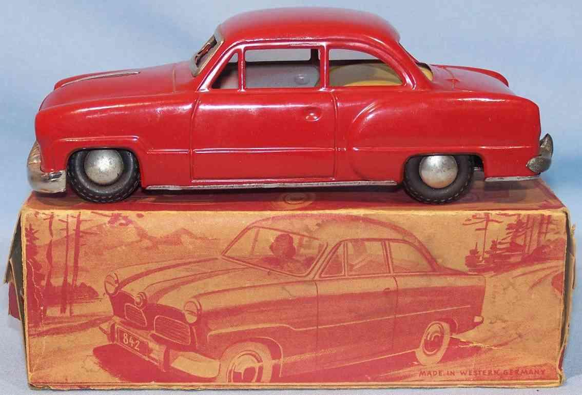 gunthermann 842/1 tin toy car opel olympia red
