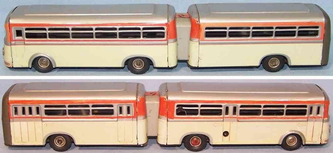 guenthermann gunthermann 857 tin toy articulated bus