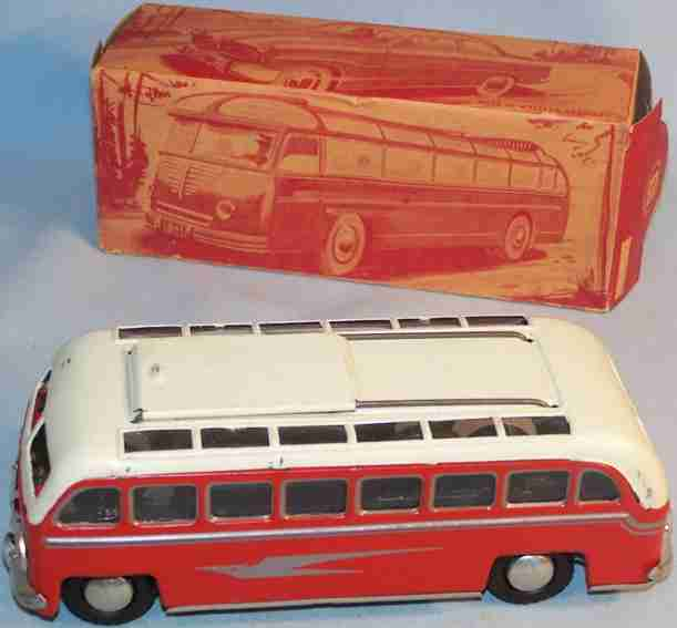 guenthermann blech spielzeug autobus reisebus mit oberlichtdach und schiebedach zum öffnen