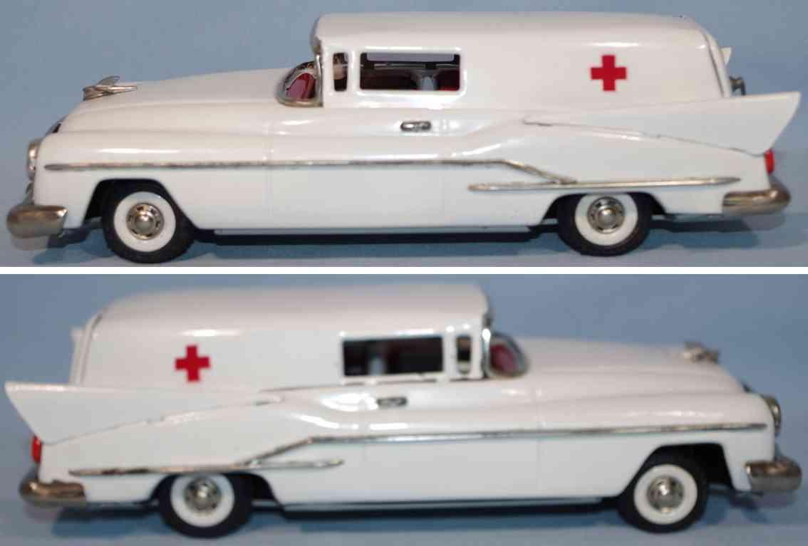 guenthermann blech spielzeug auto krankenwagen heckflossen