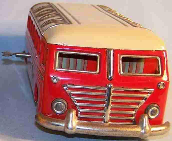 gunthermann 851 tin toy nibelung bus clockwork red beige