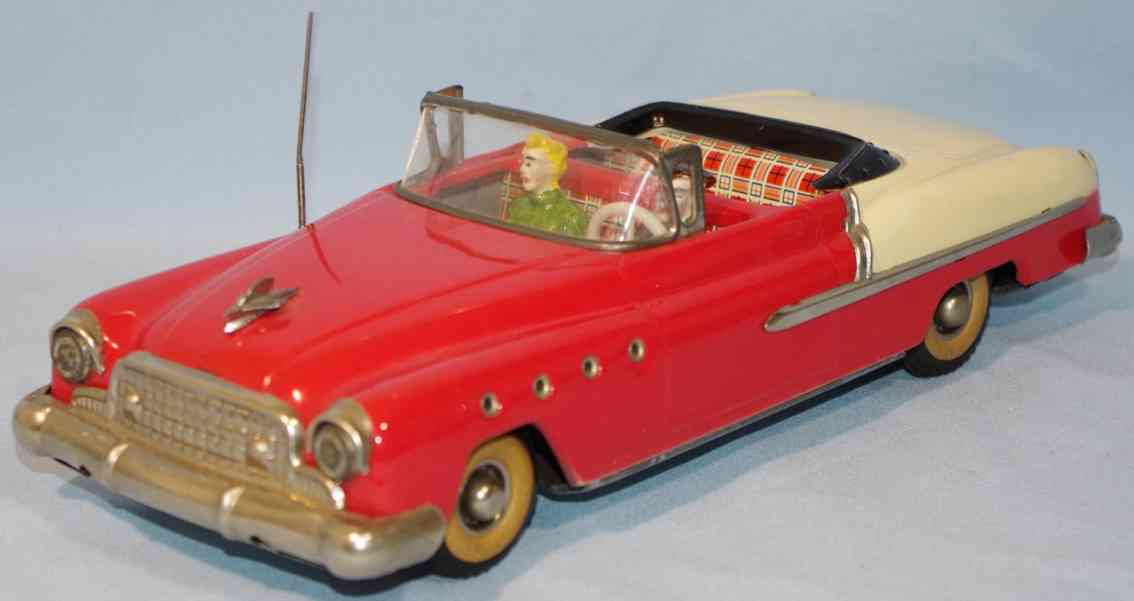 guenthermann 850 blech spielzeug auto buick cabriolet rot weiss