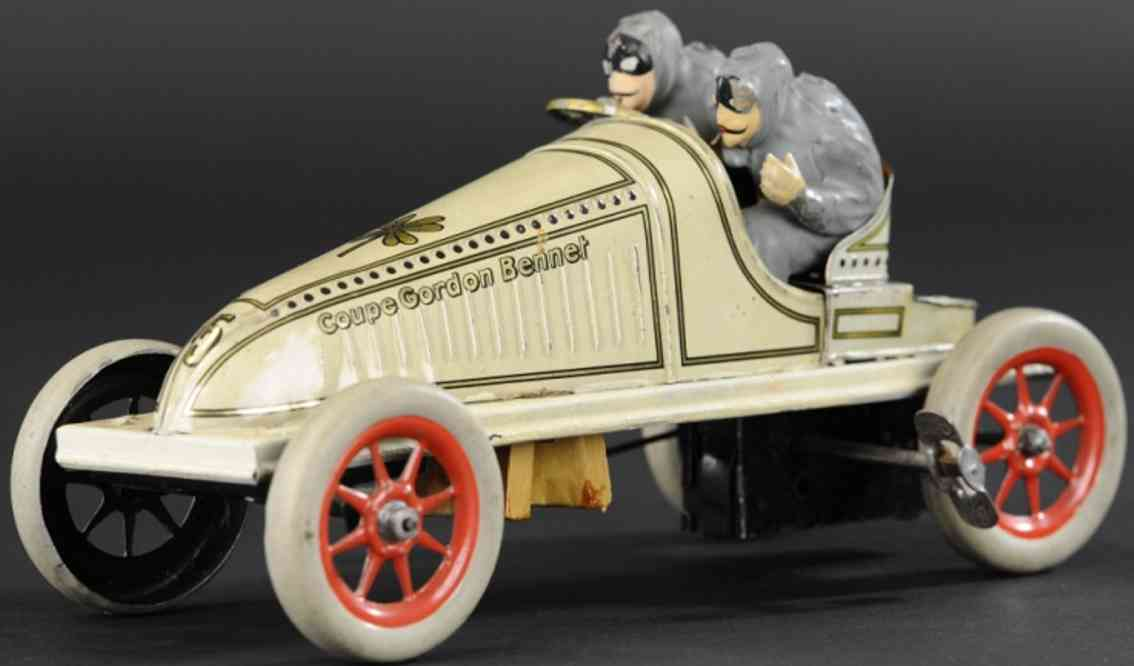 gunthermann tin toy racer car gordon bennet