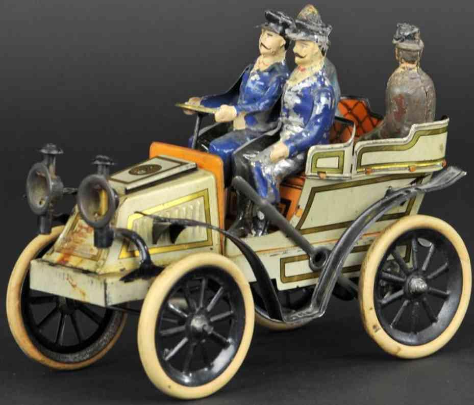 guenthermann blech spielzeug luxusauto vier figuren