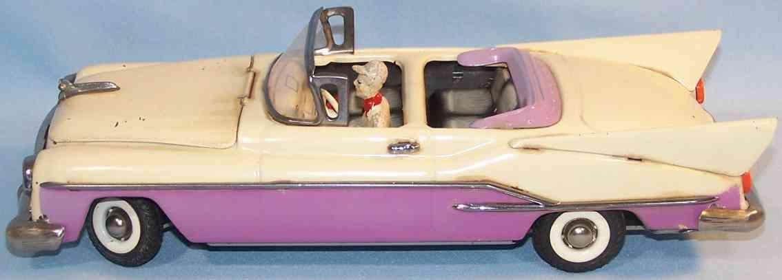 guenthermann blech spielzeug auto studebaker cabrio creme lila