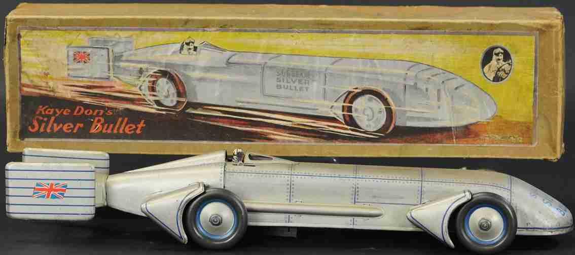gunthermann tin toy race car sunbeam silver bullet land speed car