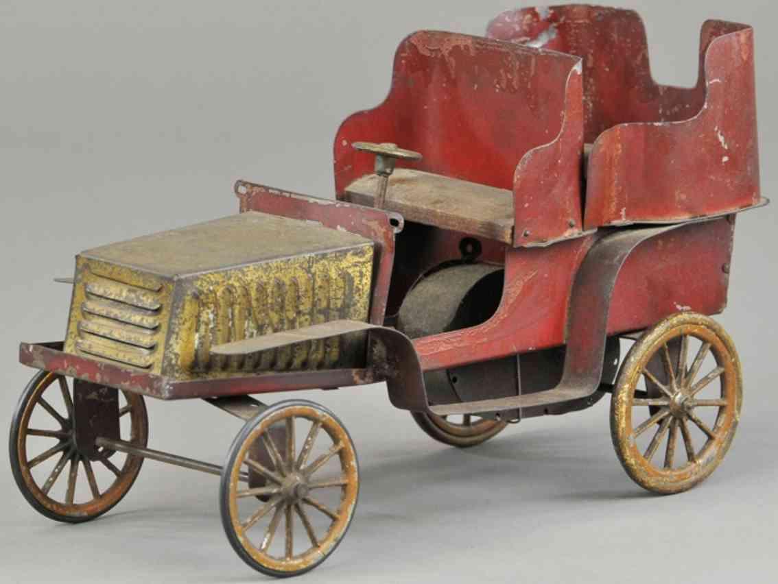 hafner blech spielzeug auto tourenwagen cabrio rot gold uhrwerk