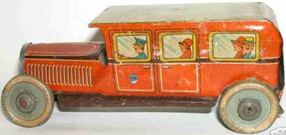 hammerer & kuehlwein hk 322 blech spielzeug blechbus