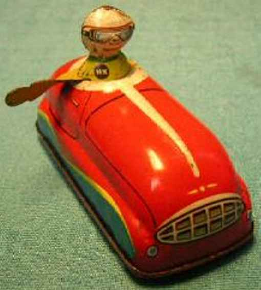 hammerer & kuhlwein 568 tin toy car with clockwork red driver