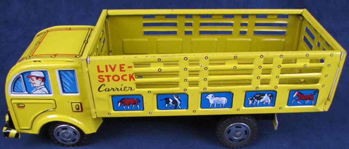 hayashi 163 blech spielzeug lastwagen lastwagen mit friktionsantrieb in gelb lithografiert. zu seh