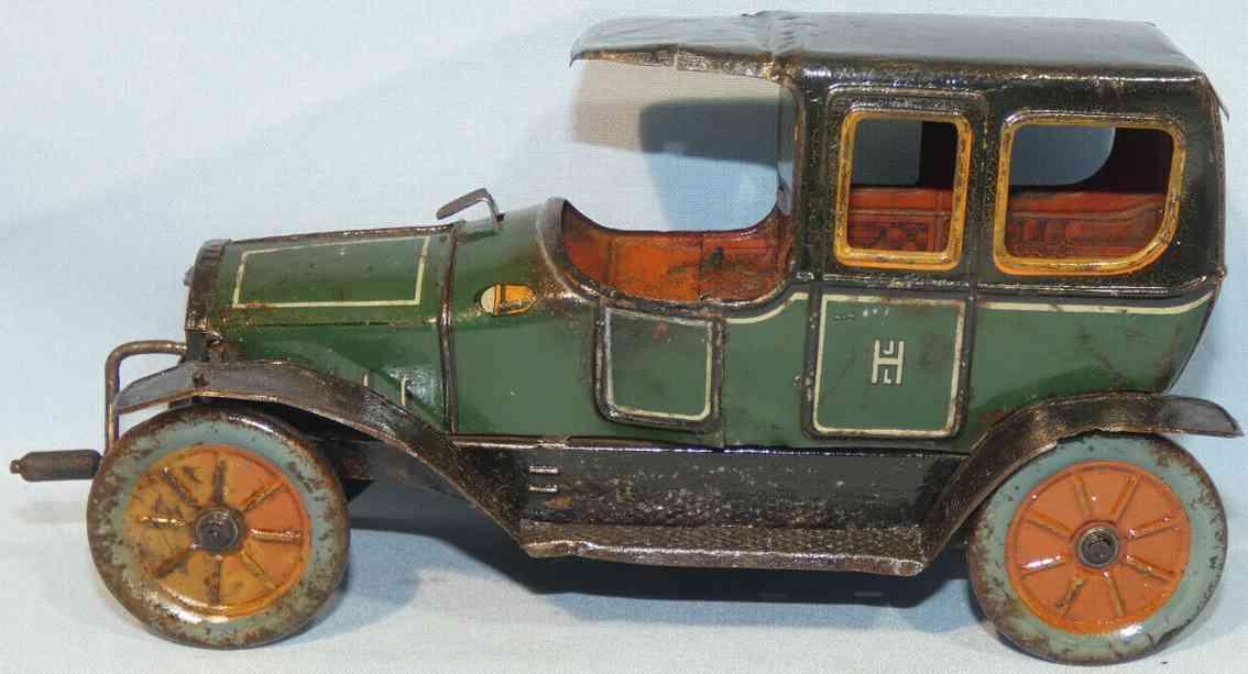 hess 1022 tin toy car hessmobil crank drive gren