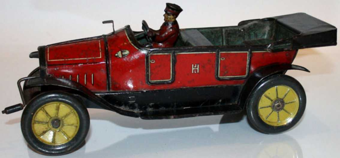 Hess 1023 Oldtimer Hessmobil offener 4-sitziger Tourenwagen mit Fahrer in rot