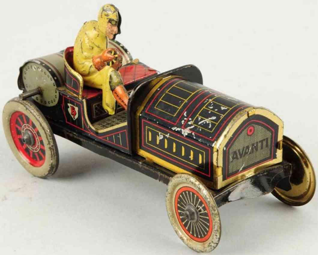 hess tin toy race car driver avanti flywheel