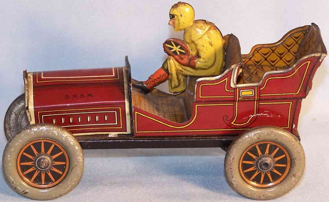 hess tin toy car automobile roller flirt