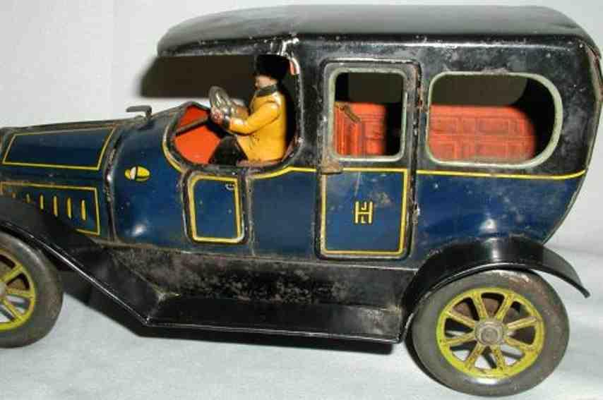 Hess Oldtimer Auto mit Uhrwerk in blau