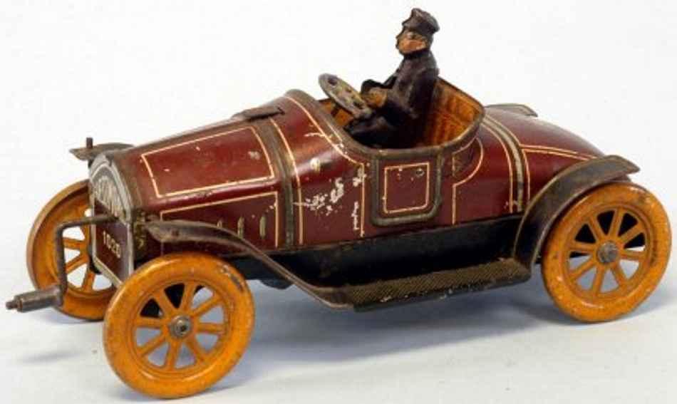 Hess Oldtimer Wagen mit Fahrer aus lithografiertem Blech