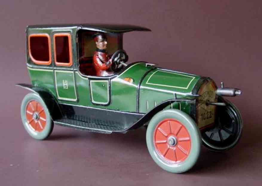 Hess Oldtimer Auto lithografiert mit Kurbel