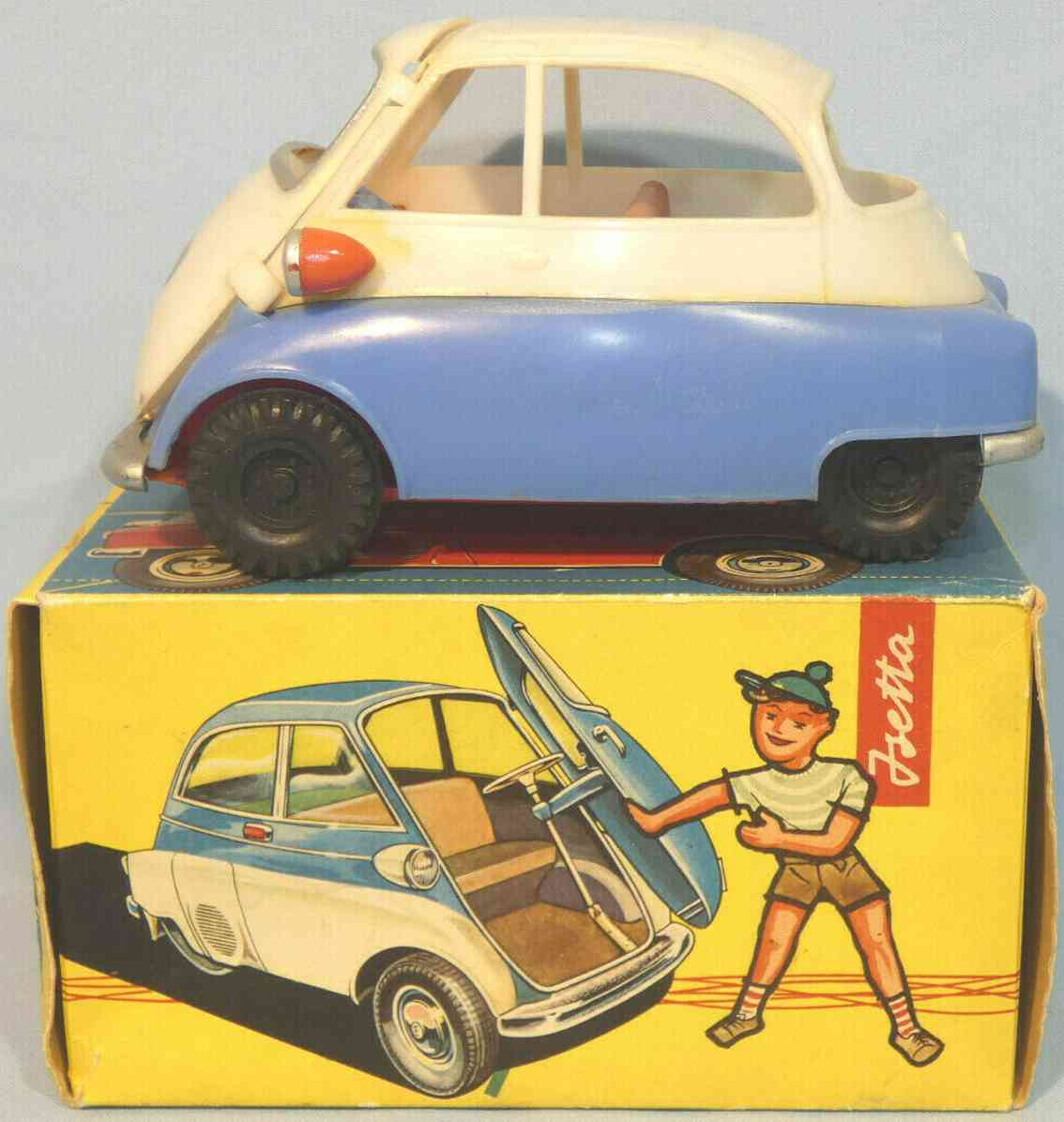 hofler j h h-108 celluloid toy car isetta plastic as sliding model