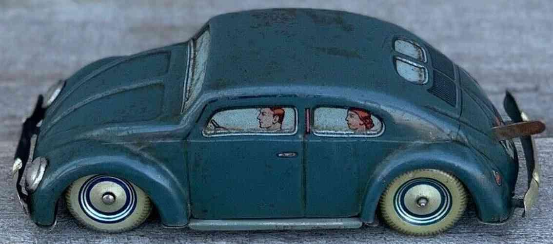 hoerndlein fritz blech spielzeug auto h 126 volkswagen mit uhrwerk blau