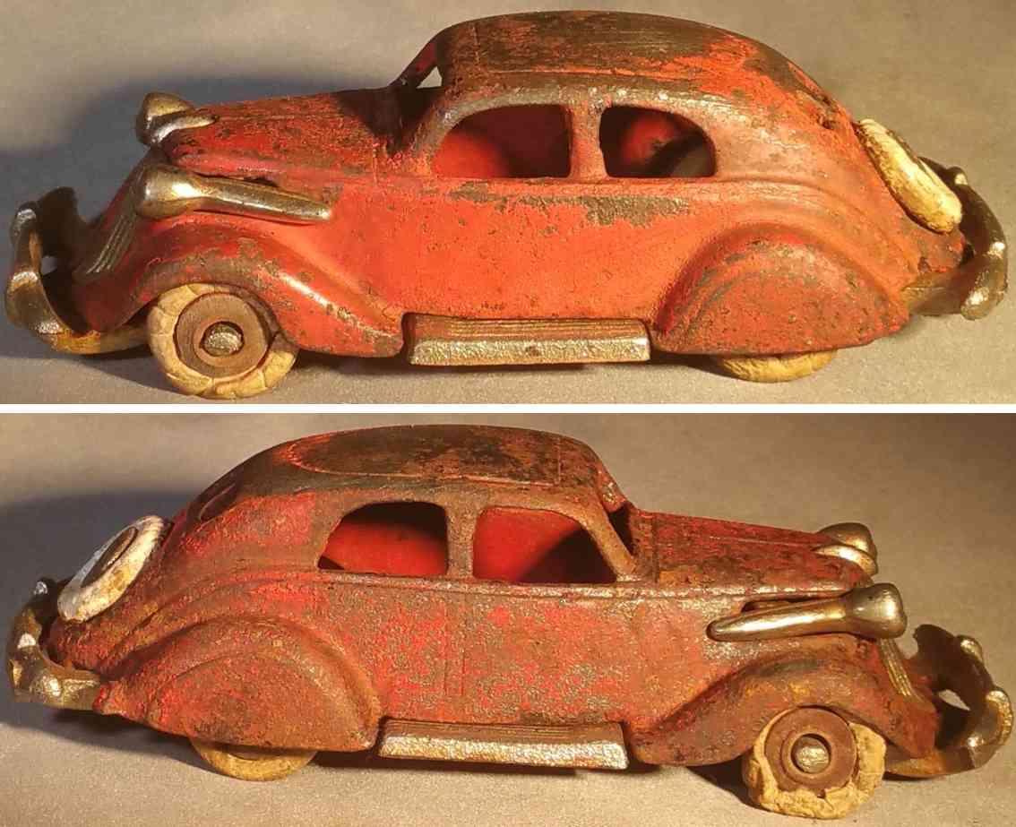 hubley 393 spielzeug gusseisen auto studebaker rot