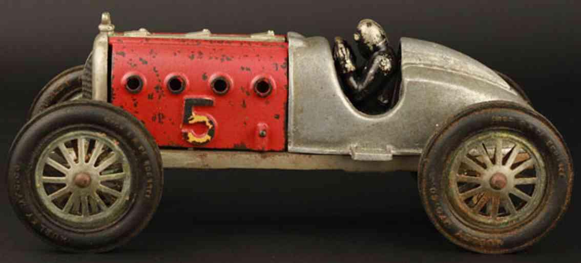 hubley 5 spielzeug gusseisen rennauto rennwagen roter teufel