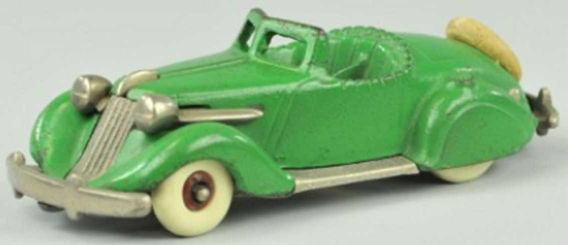 hubley 610 spielzeug gusseisen auto studebaker roadster gruen