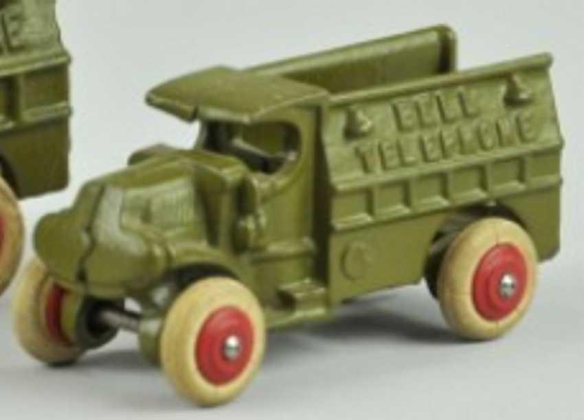 hubley spielzeug gusseisen bell telefonwagen