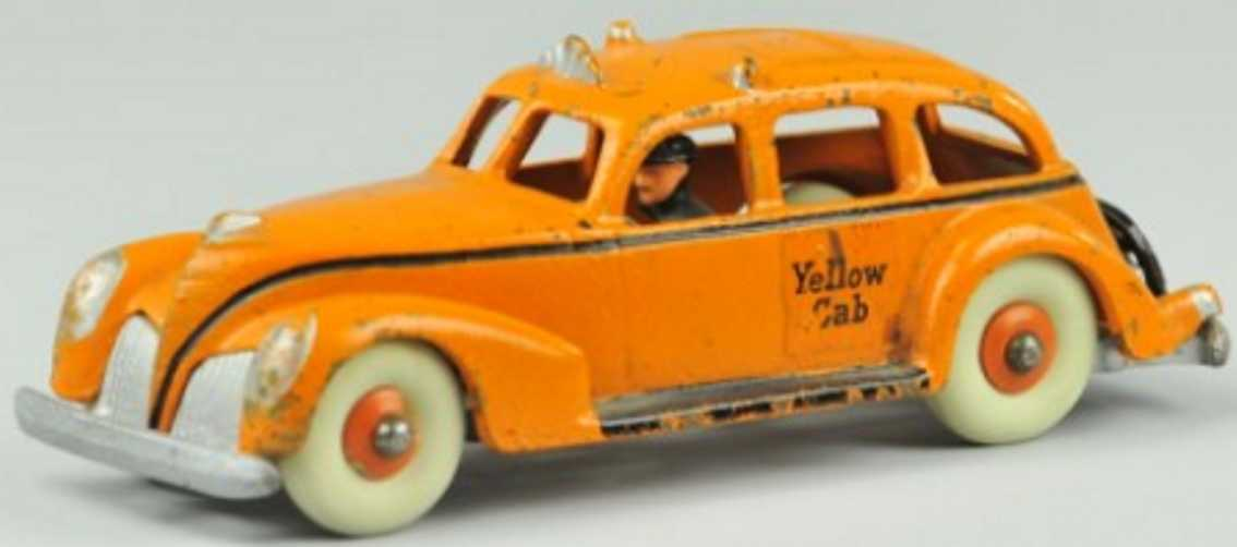 hubley 685 cast iron toy car yellow cab