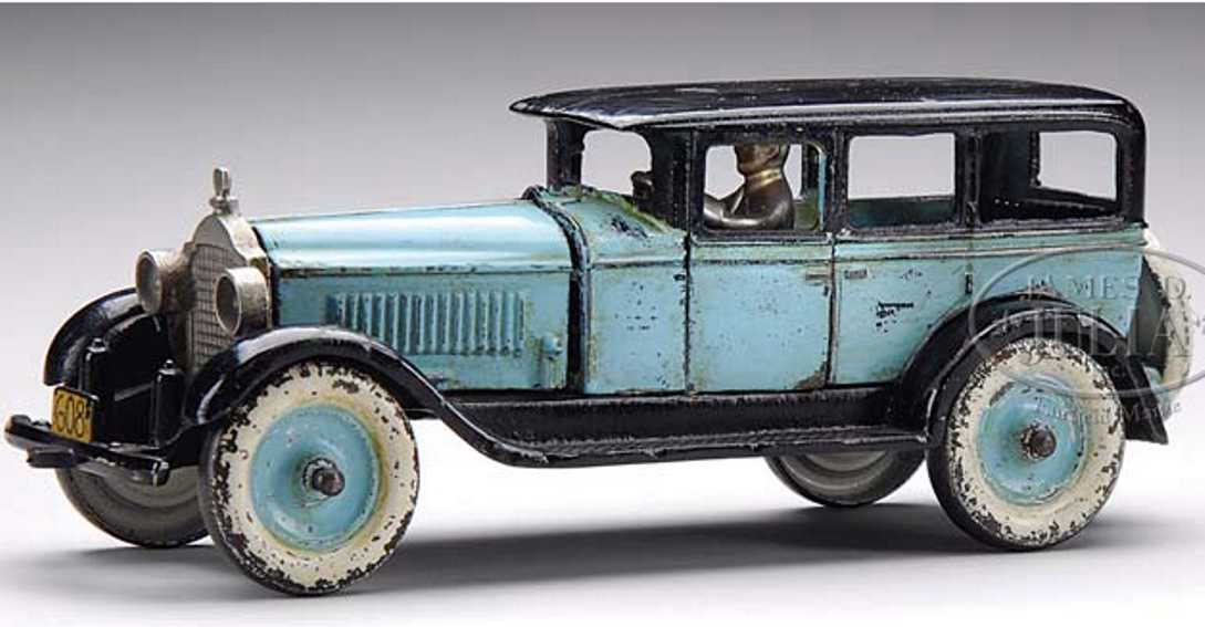 hubley spielzeug gusseisen auto packard blau schwarz