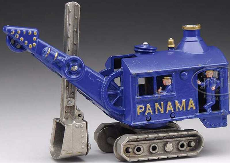 hubley cast iron toy digger blue panama