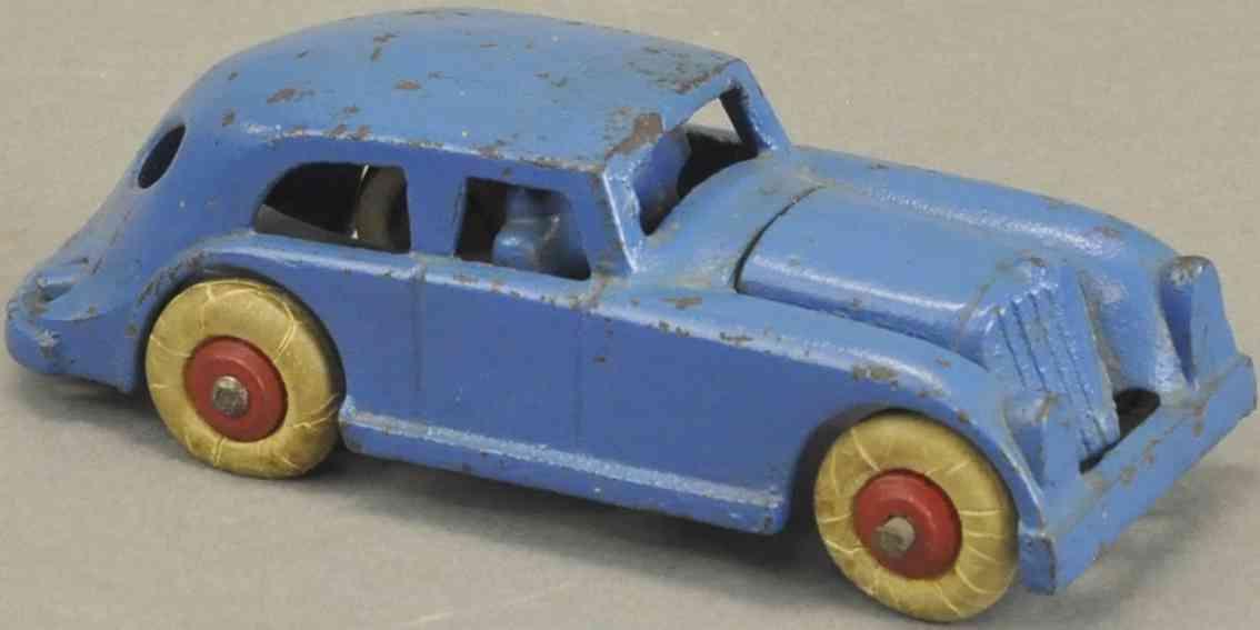 hubley gusseisen spielzeug prototyp sharon toys rohr auto blau