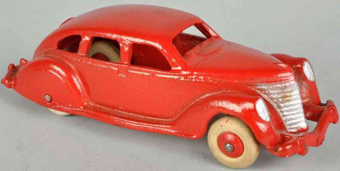 hubley cast iron toy car airflow automobile red