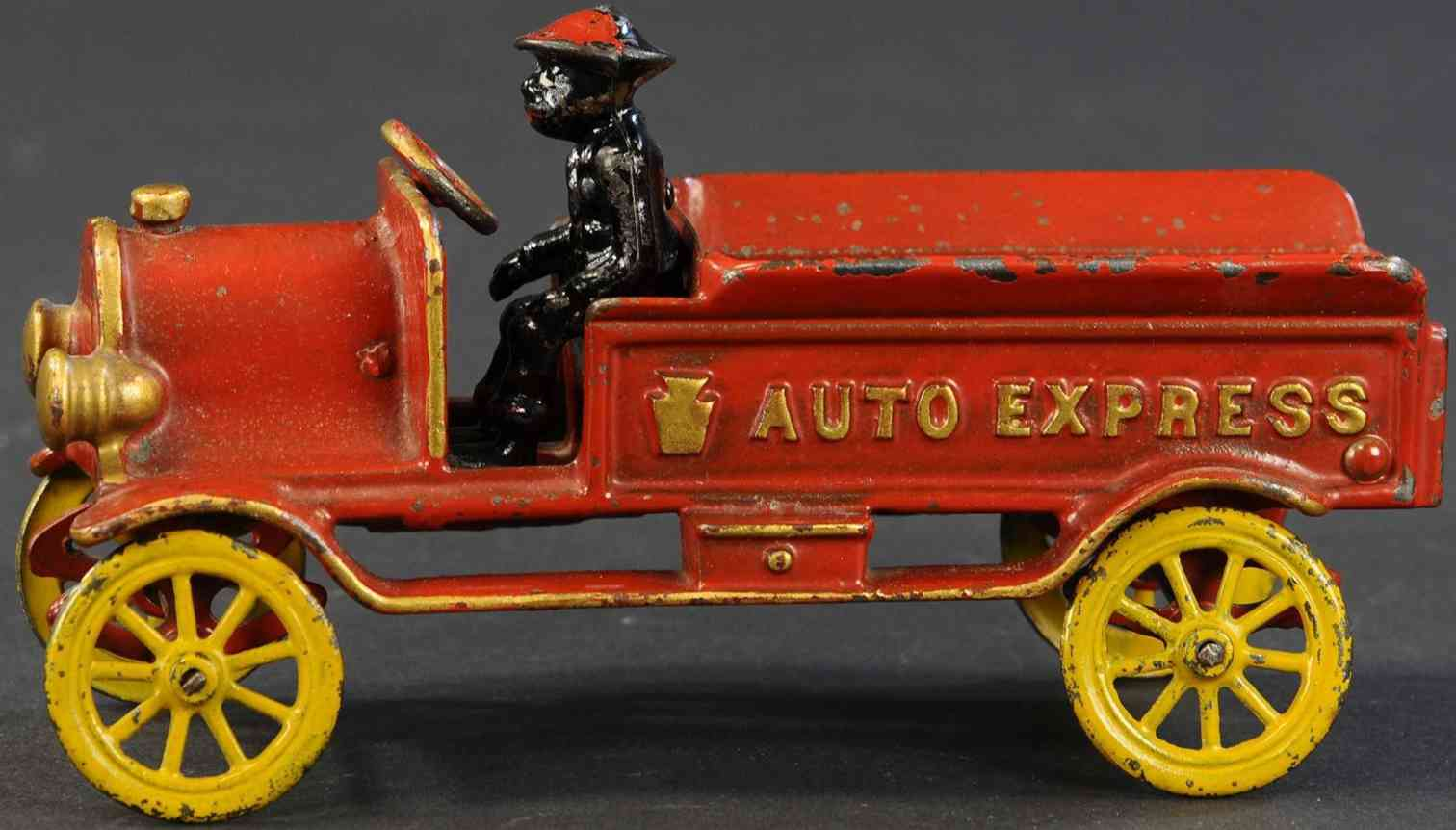 hubley spielzeug gusseisen lieferwagen auto express  rot