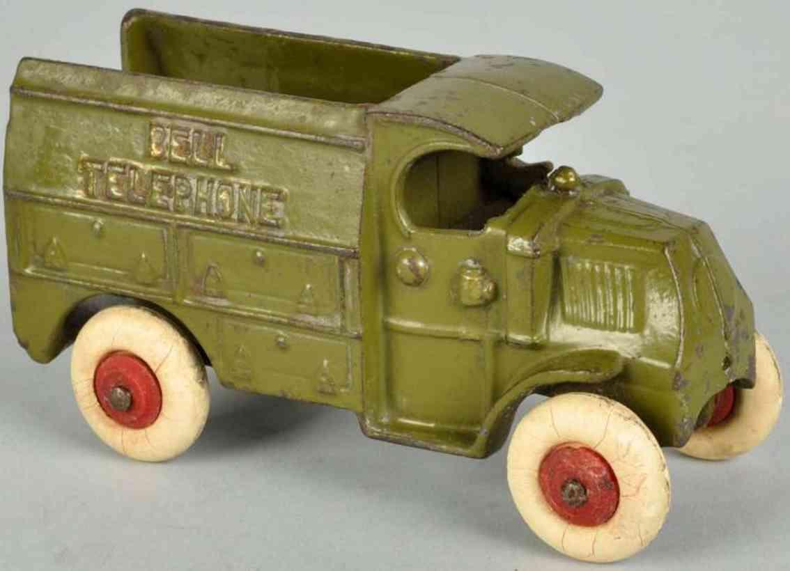 hubley 1980 spielzeug gusseisen telefonwagen bell