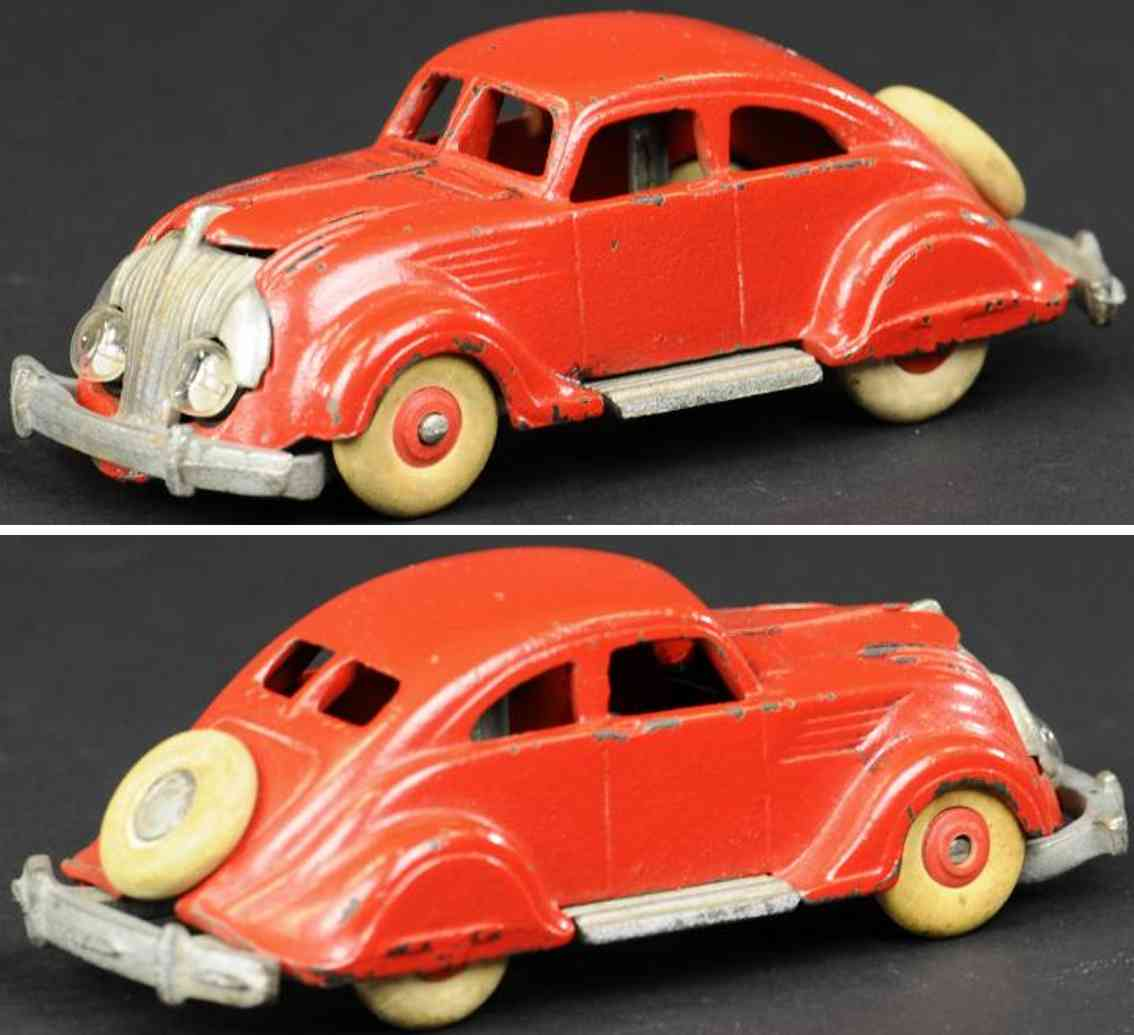 hubley cast iron toy car airflow chrysler red