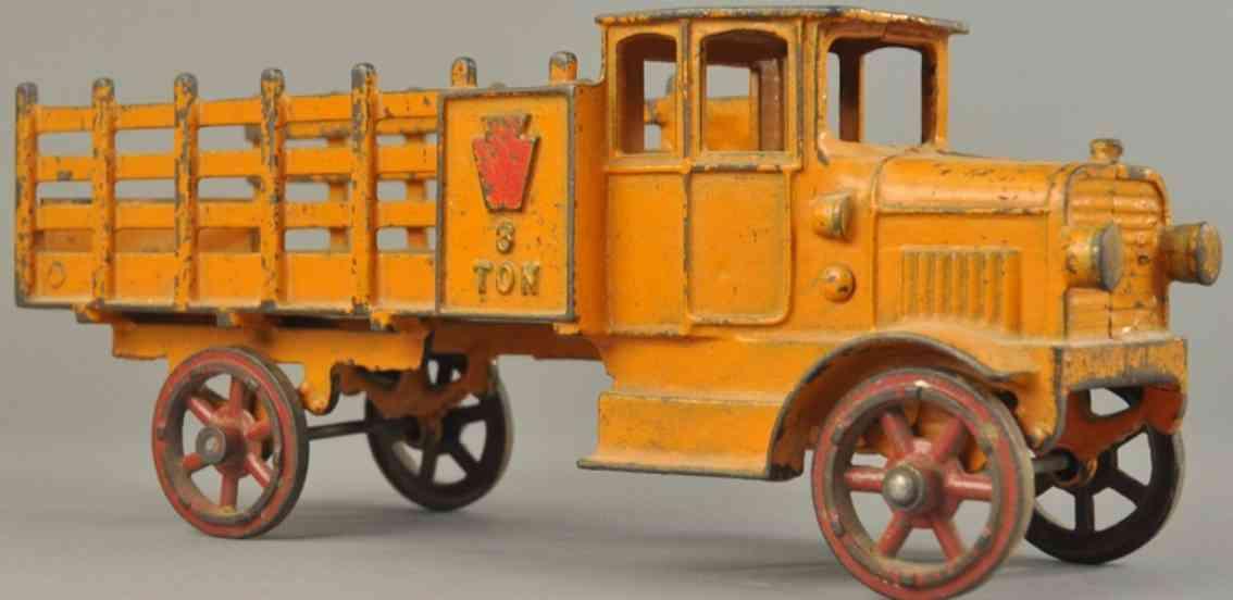hubley spielzeug gusseisen lieferwagen 3 Tonnen orange