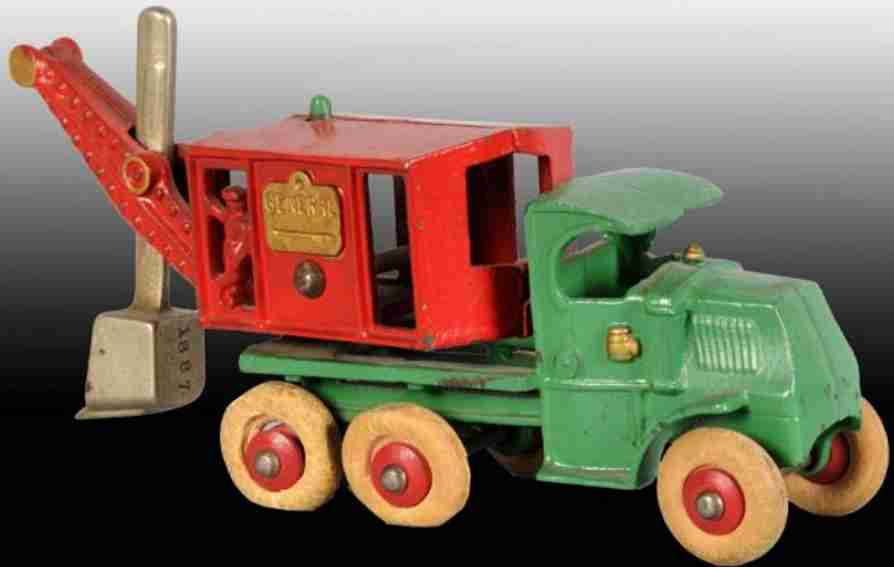 hubley cast iron toy general digger truck