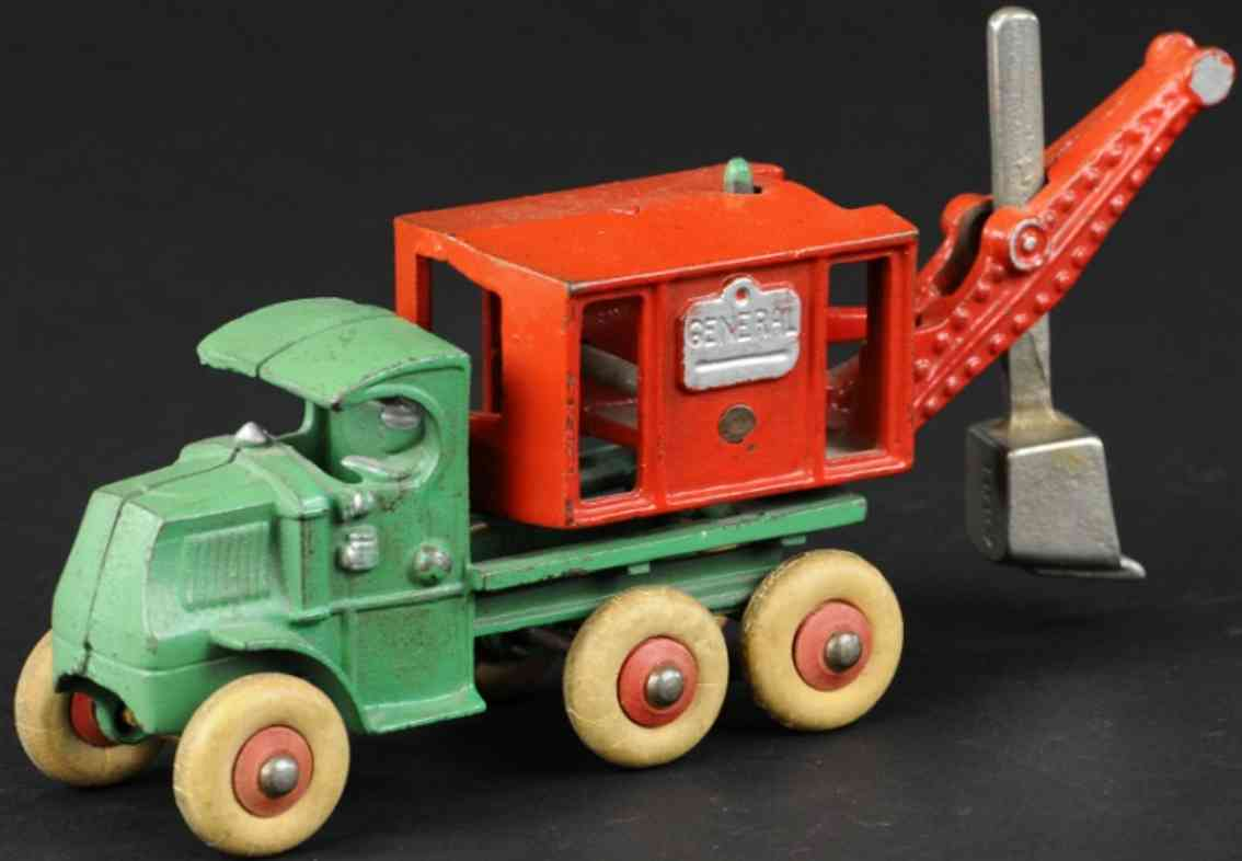 hubley cast iron toy general digger mack truck chassis