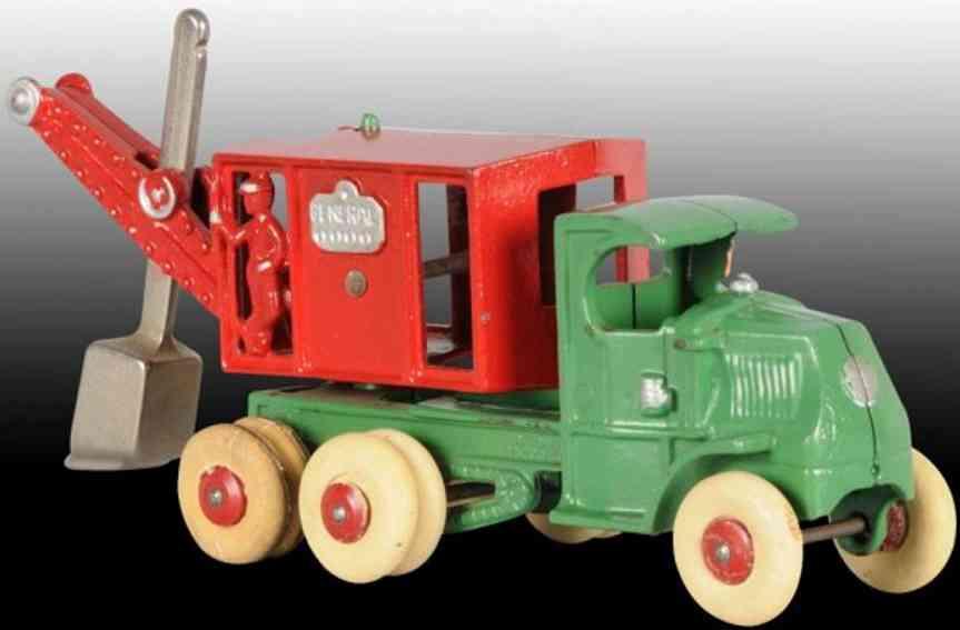 hubley spielzeug gusseisen schaufelbaggerlastwagen