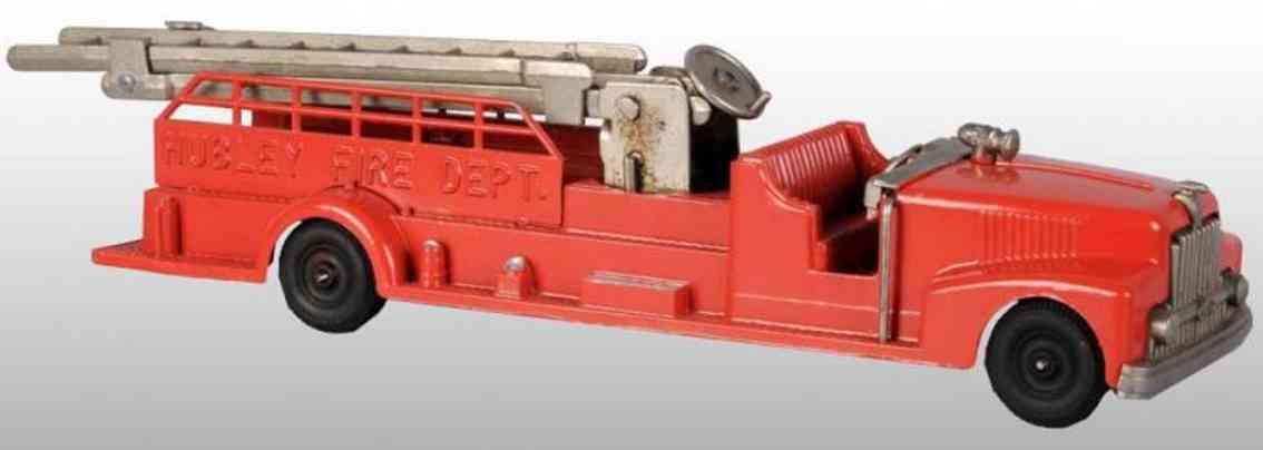 hubley spielzeug gusseisen feuerwehrwagen rot