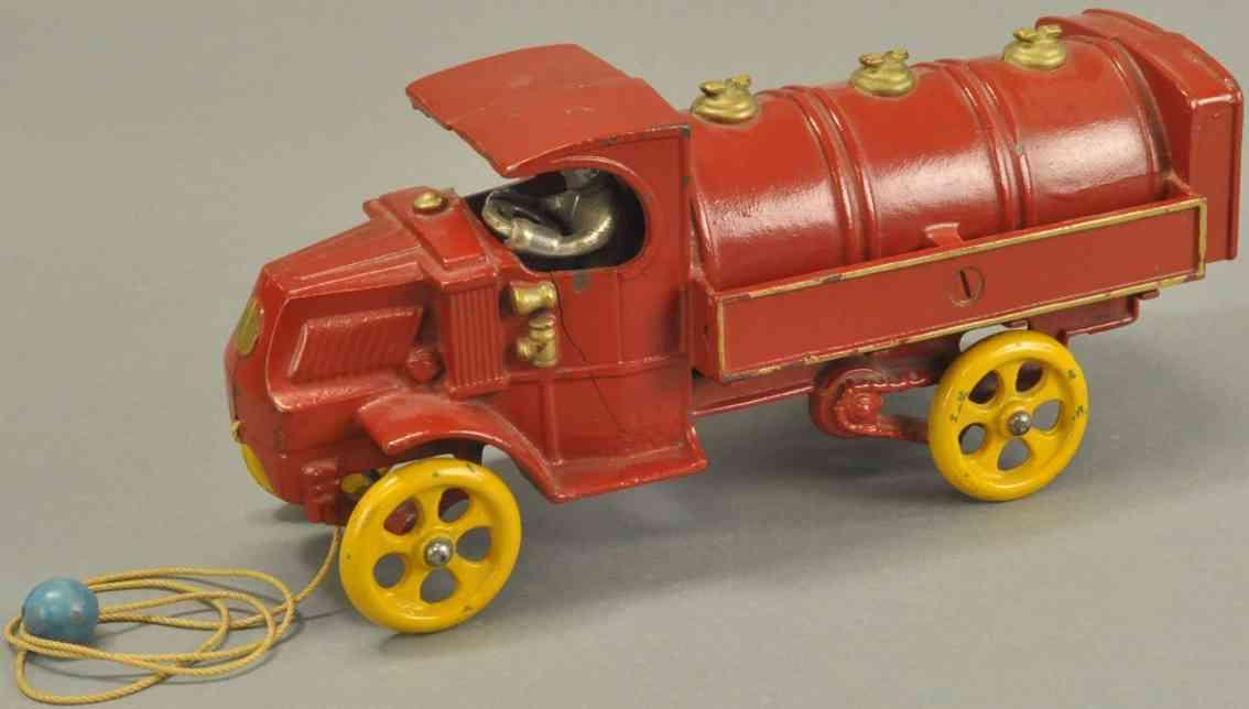 hubley spielzeug gusseisen tanklastwagen  rot