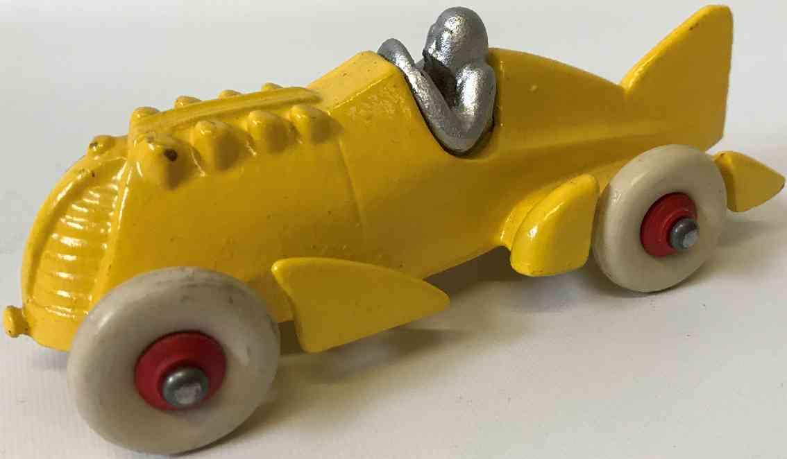 hubley spielzeug gusseisen rennauto goldern pfeil rennwagen gelb