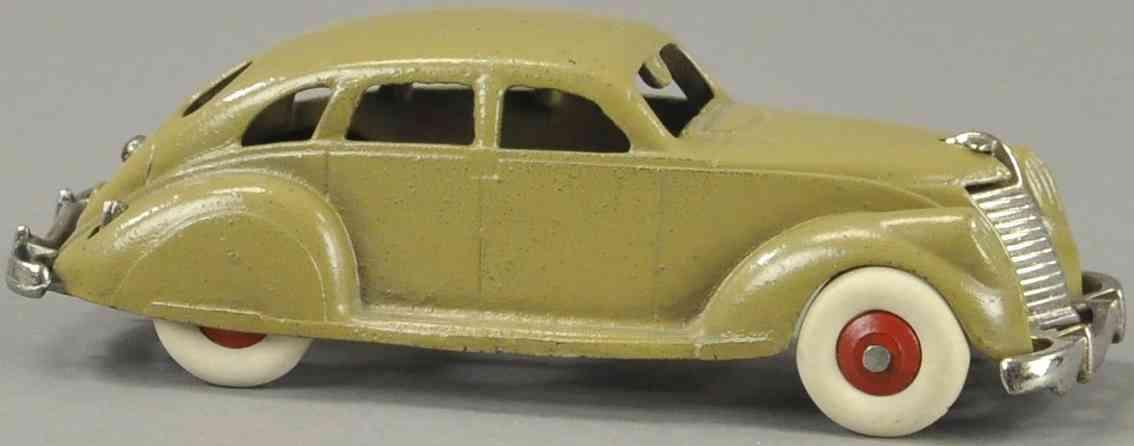 hubley spielzeug gusseisen auto lincoln zephyr auto braun