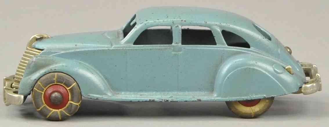 hubley spielzeug gusseisen auto lincoln zephyr auto blau