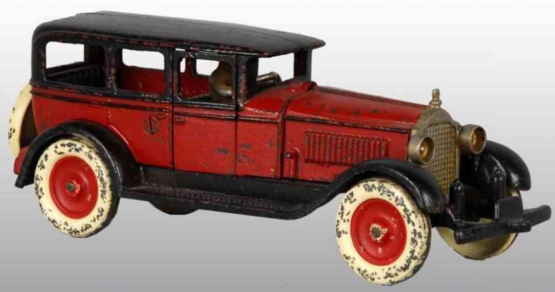hubley spielzeug gusseisen auto packard rot schwarz