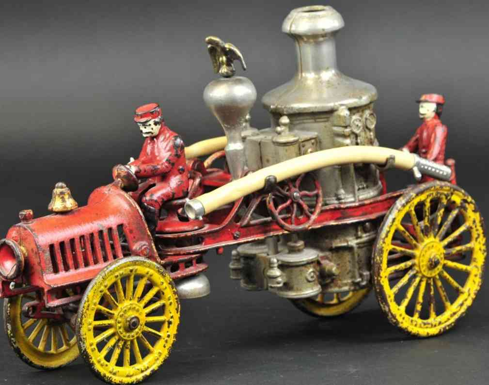 hubley cast iron toy auto fire engine