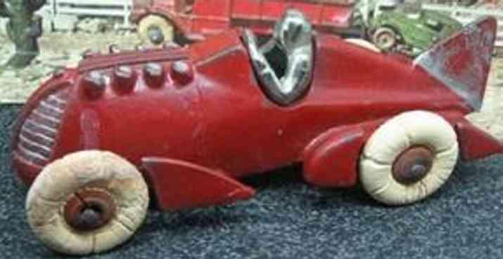hubley spielzeug gusseisen rennauto rennwagen rot
